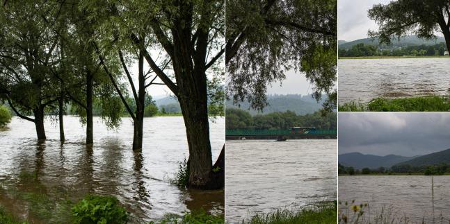 Rzeka San w Sanoku fot. Gracjan Harko - czytelnik Kuriera Rzeszowskiego
