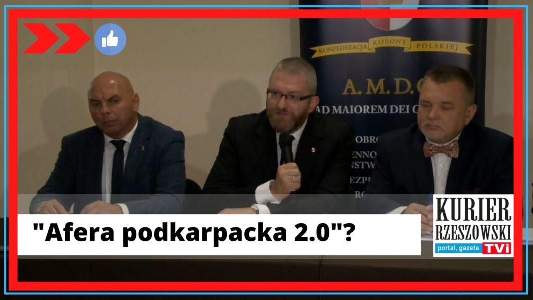 Screen z konferencji Grzegorza Brauna w Przemyślu,/Facebook Konfederacji